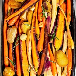 Picture of Roast Potatoes, Parsnips, and Carrots